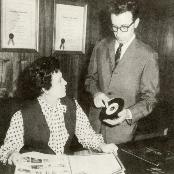Estelle Axton and Jim Stewart of Star Records