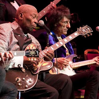 B,B. King and The Rolling Stones