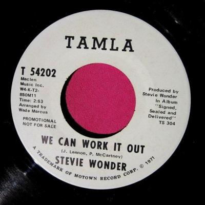 We Can Work It Out – Stevie Wonder